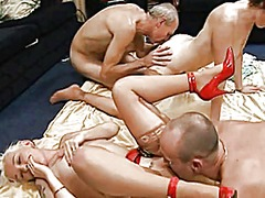 group, cumshot, mature, british,