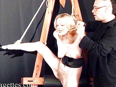 See: Blonde bondage babe we...
