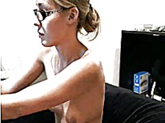 Thumb: Blonde strips and fuck...