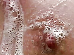 nipples, brunette, tits, hairy, shower,