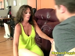 Cougar handjob lovers ... video