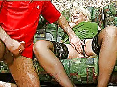Blonde grannie - punishment turns int...
