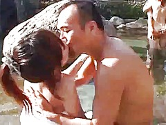 Japanese hot spring group sex - 08:48