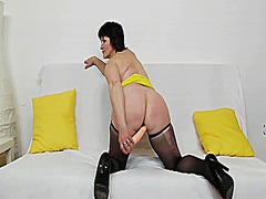 stocking, brunette, stockings, toy, toys, masturbation