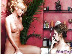 Thumb: Emily addison eating p...