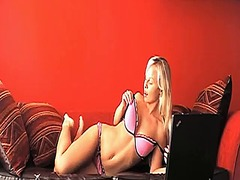 See: Hot blonde sharka stri...
