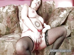 Sandie marquez stuffs her pussy with ...