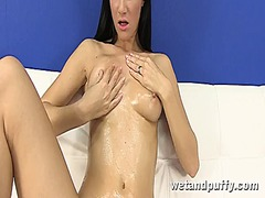 Lauren strips naked an... preview