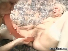 hairy, blonde, mature, granny