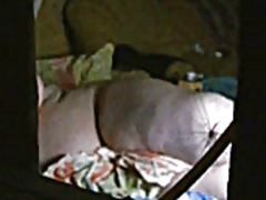 Spying on fat woman th... video