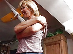 Skinny blonde mom gets...