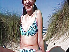 See: Girl nacket on the beach