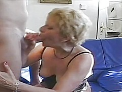 granny, blonde, amateur, blowjob,
