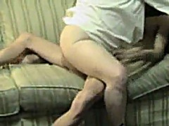 Cock grinding on the couch.