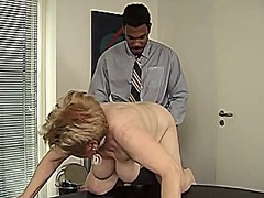 interracial, granny, mature, blonde,