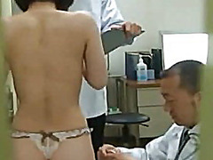 asian, milf, uniform, voyeur