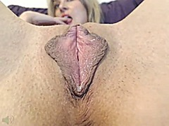 Mature shows her pussy... video