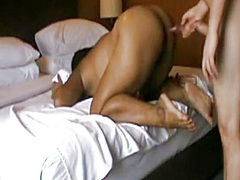 Screwing a huge Asian ... from Private Home Clips