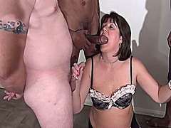 facial, british, mature, interracial,