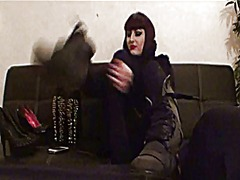 Gothic femdom boots an... video