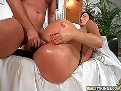 blowjob, shaved, big ass, anal,