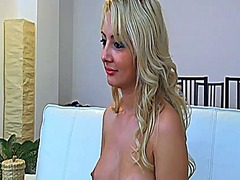 See: Sexy blonde teasing on...