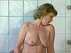 mature, bathroom, doggy,