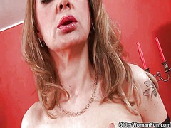 Xhamster Movie:Sleazy moms in corset and stoc...