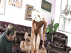 Skinny blonde on bbc