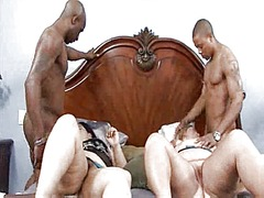 Group interracial sex ... video