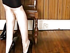 Private Home Clips Movie:Shiney petticoat, heels nylons...