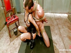 Awesome gia dimarco dominating and pegging the bound up person inside masochism vid