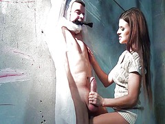 Xhamster Movie:Bound guy gets wanked by domin...