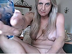 Nice granny playing with dildos - part3