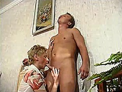 mature, aunt, blowjob, blonde
