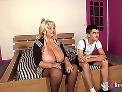 busty mature and boy video
