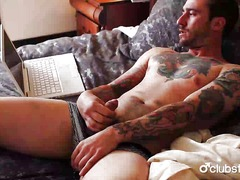 Tattooed straight guy ...