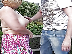 outdoors, mature, bbw, granny,