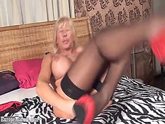 masturbation, blonde, big boobs