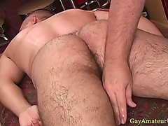 Straight guys ass close up getting toyed