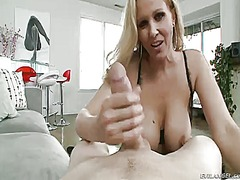 Julia ann gags on...