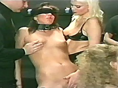 Xhamster Movie:Blindfolded slave used vintage...
