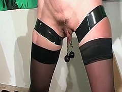 stocking, nylon, toy, mature, fetish,