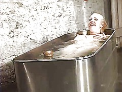 Sleaze adrianna nicole has bound up and tortured inside the bathtub