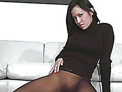 Thumb: Nylons fetish brunette...