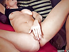 Tasty milf tickles her...