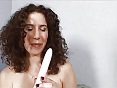 See: Curly hairy girl toying
