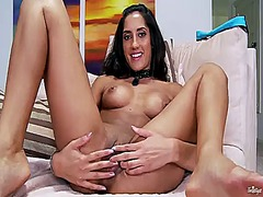 Chloe amour touching h...