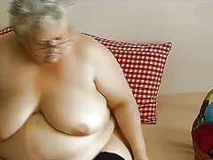 lady, old, video, mom, older, fat