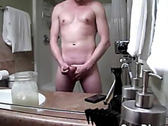 Guy Stroking His Big Cock